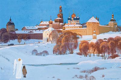 Житие преподобного Сергия Радонежского в живописи Александра Простева (фото, вид 4)