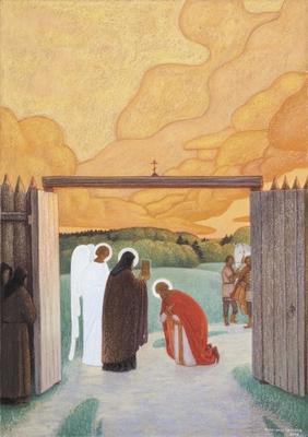 Житие преподобного Сергия Радонежского в живописи Александра Простева (фото, вид 5)